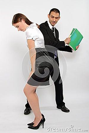 bad secretary stock photography image 18526532