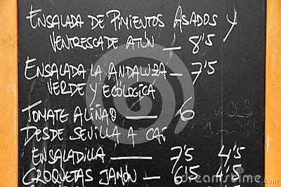 Spansk meny