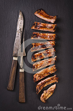 Free Spare Ribs Royalty Free Stock Image - 82138846
