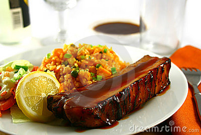 Spare ribs with rice