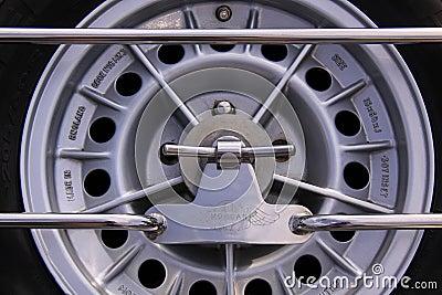 Spare tire morgan oldtimer car Editorial Stock Photo
