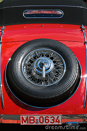 Spare wheel Mercedes-Benz 500K Special Roadster Editorial Photo