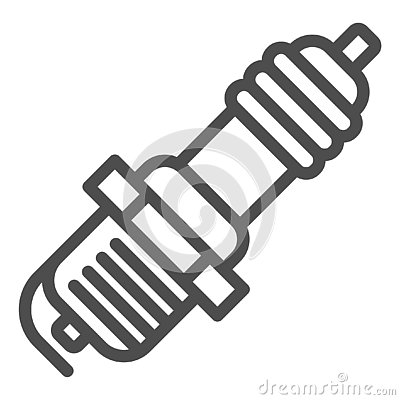 Free Spark Plug Line Icon. Car Candle Vector Illustration Isolated On White. Ignition Outline Style Design, Designed For Web Royalty Free Stock Photography - 138773687