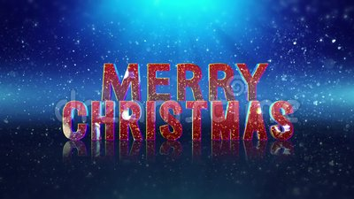 Sparkle Filled Merry Christmas Happy New Year Greeting. This video features a blue particle filled background with a Merry Christmas Happy New year message in a stock illustration