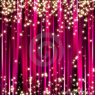 Free Sparkle Pink Stars Background Royalty Free Stock Images - 11698469