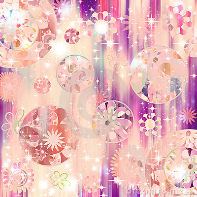 Free Sparkle Retro Flower Bling! Royalty Free Stock Photo - 652635