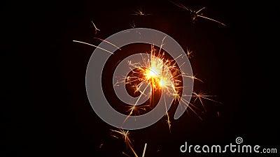 Sparkler Fireworks Being lit  stock video footage