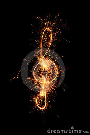 Sparkler music clef