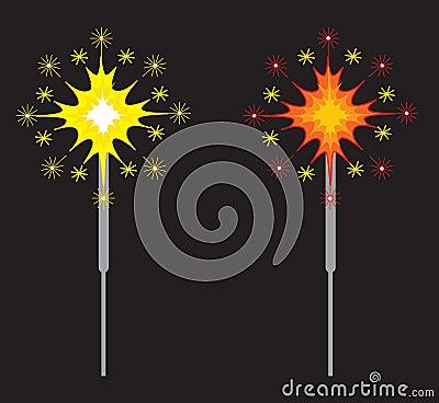 Sparklers or Fireworks