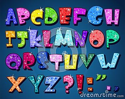 Sparkling alphabet