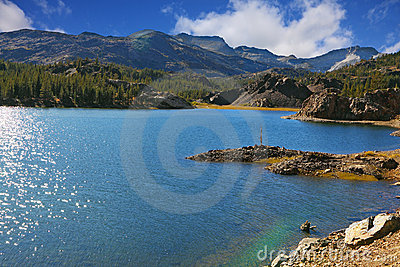 Sparkling azure lake