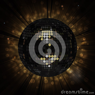 Black disco ball background