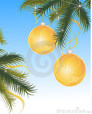 Sparkling christmas globes
