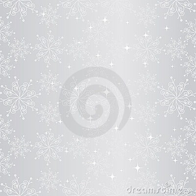 Sparkling Christmas snowflake seamless pattern