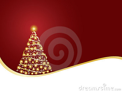Sparkling christmas tree