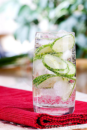 Sparkling Cucumber Water