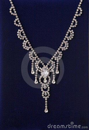 Free Sparkling Diamond Necklace Stock Photos - 684413