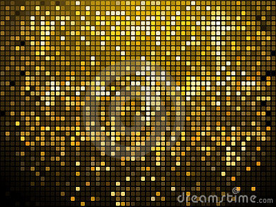 Sparkling gold mosaic background