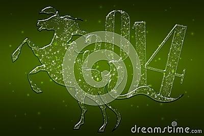 Sparkling Green Horse 2014