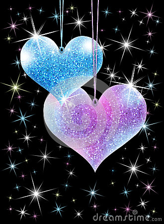 Sparkling Hearts Royalty Free Stock Photos Image 36559408