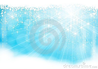 Sparkling light blue Christmas / winter theme
