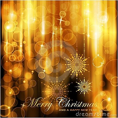 Sparkling lights Christmas card