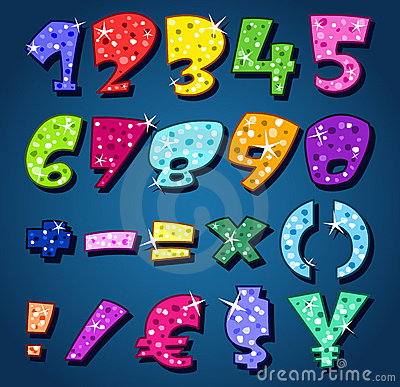 Free Sparkling Numbers Royalty Free Stock Photography - 21385997
