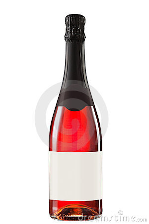 Sparkling red wine bottle