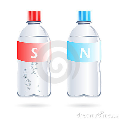 Sparkling and still water bottles