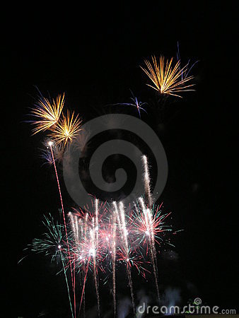 Sparkling tall  fireworks