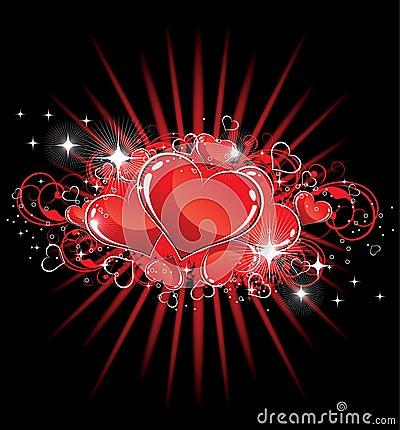 Sparkling Valentine Hearts