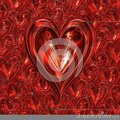 Sparkling valentines heart
