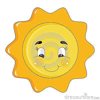 Sparkly bright sun