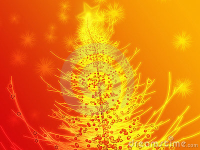 Sparkly christmas tree illustration