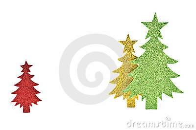Sparkly paper trees
