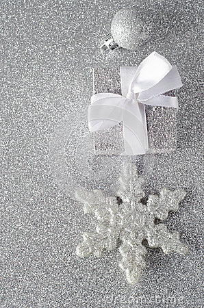 Sparkly Silver Christmas Decorations