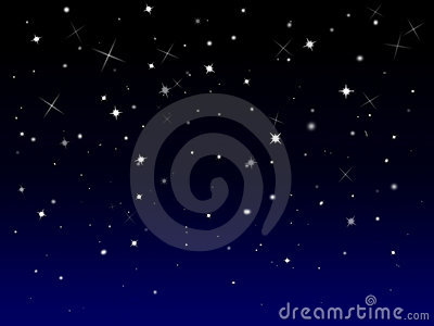 Sparkly starry background