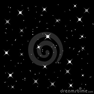 Sparkly starry background (vector)