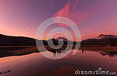 Sparks Lake at Sunset