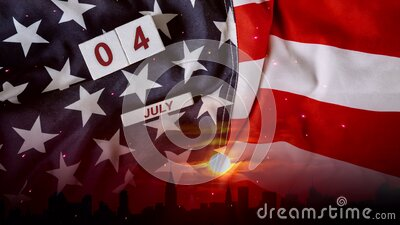 Sparks nighttime projection and fireworks show God Bless America Celebrating Independence Day United States of America. Sparks nighttime projection and fireworks vector illustration