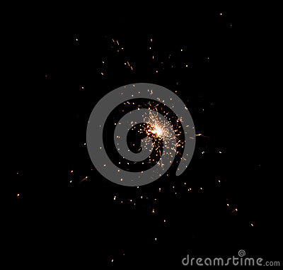 Free Sparks On Black Stock Images - 93337284