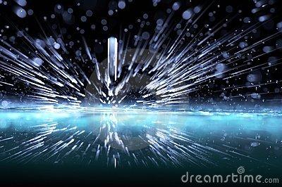 Sparks of water