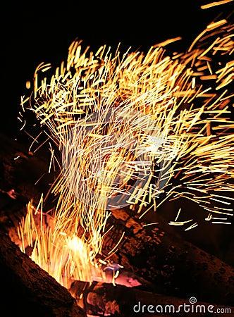 Sparky flame