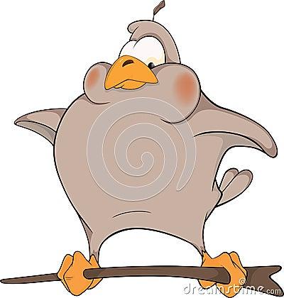 Sparrow. Cartoon