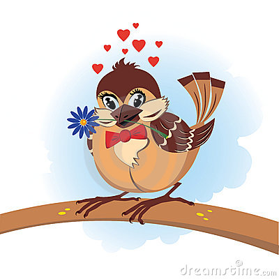 Sparrow in love