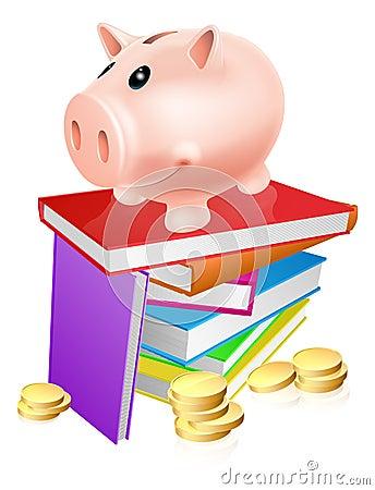 Sparschwein auf Büchern
