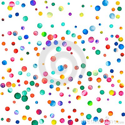 Free Sparse Watercolor Confetti On White Background. Royalty Free Stock Photos - 90357258