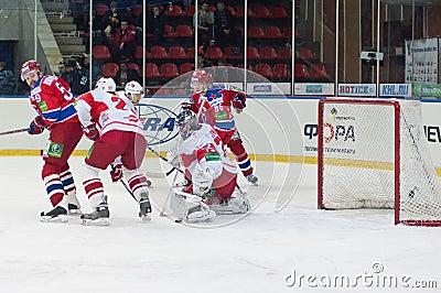 Spartak under atack Editorial Stock Image