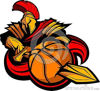 Spartan Basketball Illustration