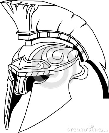Spartan Helmet Illustration Of An Ancient Greek Warrior